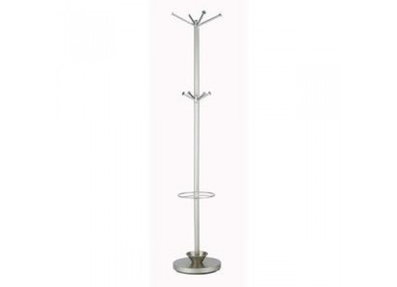 Adesso Quatro Retro Modern Umbrella and Coat Hat Rack Stand