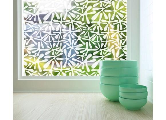 Odhams Press Groovy Amoeba Sheer Adhesive Window Film