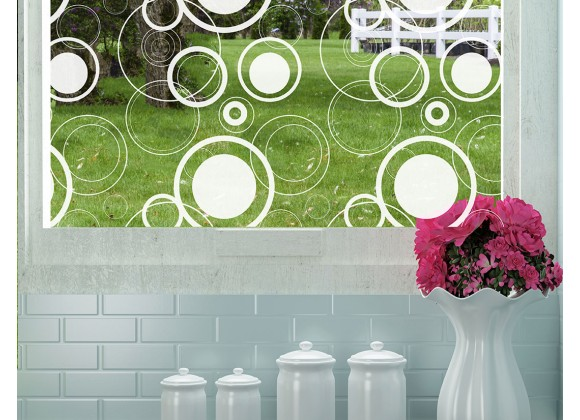Odhams Press Retro Dots Decorative Window Film - Optically Clear