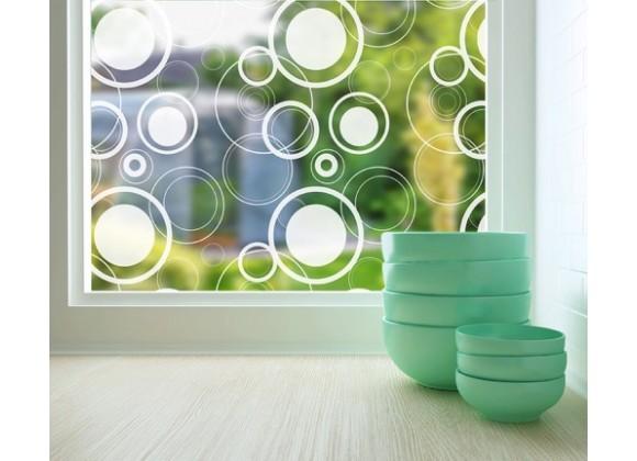 Odhams Press Retro Dots Sheer Adhesive Window Film