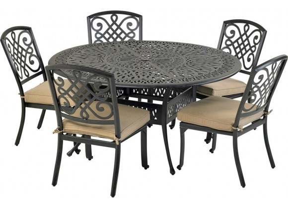 Bridgetown 6-Piece Dining Set with Armless Dining Chairs