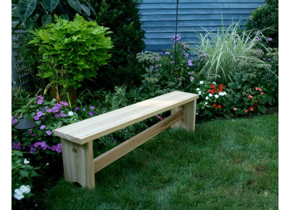 5' Cedar 1800 Traditional Bench With Slant Brace