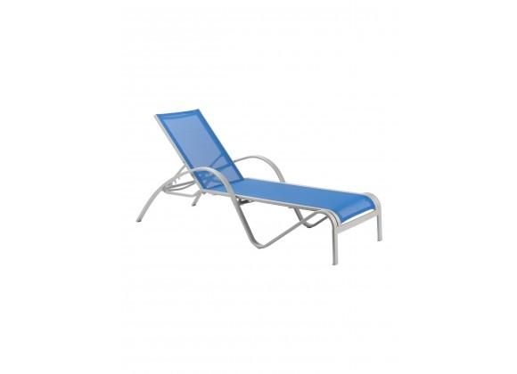 Redington Powdercoated Aluminum Sunlounger - Blue