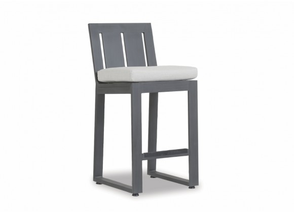 Redondo Barstool With Cushions In Cast Silver