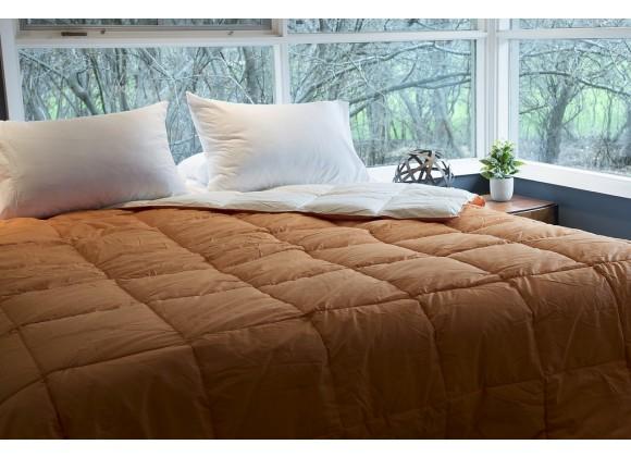 All Season loe Vera Reversible Solid Color Comforter - Twin
