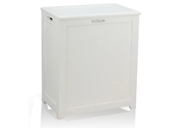 Oceanstar Storage Laundry Hamper - White - Angled