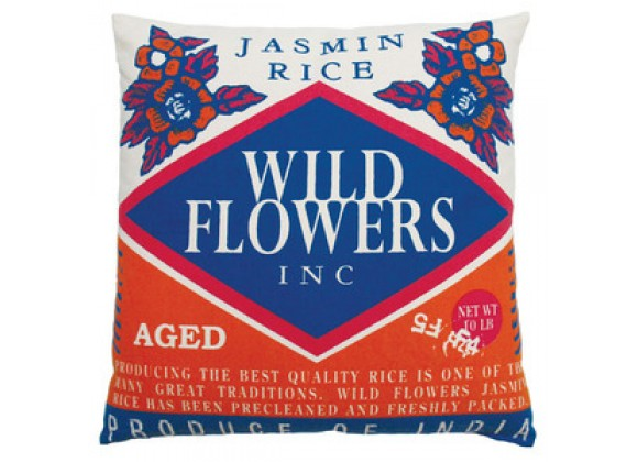 "Koko Company Rice 20"" x 20"" Pillow with Wild Flower Print"