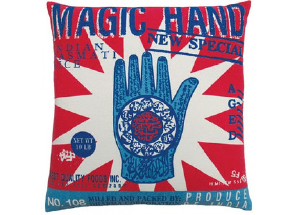 "Koko Company Rice 20"" x 20"" Pillow with Magic Hand Print"