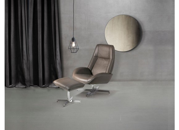 Roma Chair With Footrest In Yeti Fabric - Lifestyle