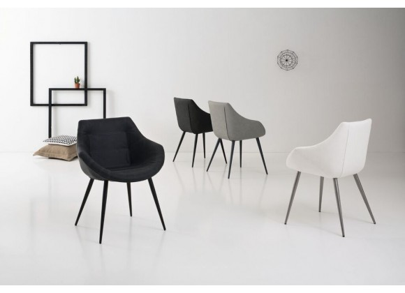 Rosy Armchair In Anthracite Grey - Lifestyle