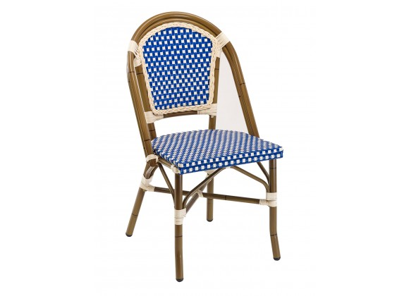 Hand Painted Aluminum Frame Side Chair - RT-01 - Blue