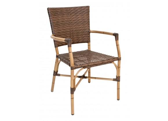 Hand Painted Aluminum Frame Arm Chair - RT-04 - Walnut