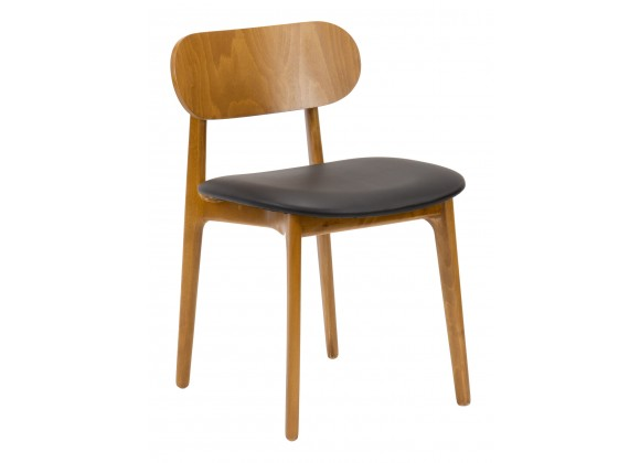 European Beechwood Wood Dining Chair - Front