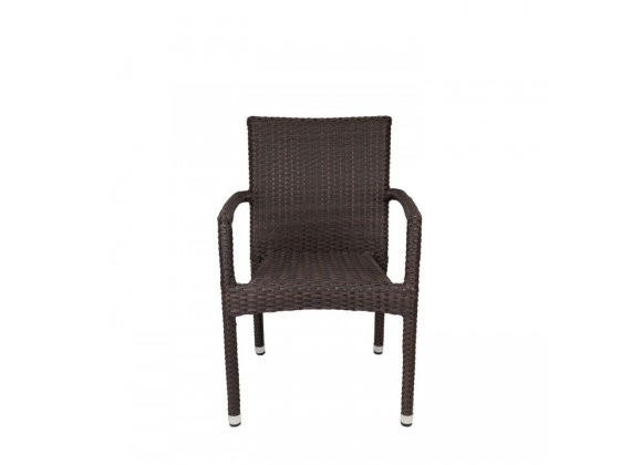 Sierra Dining Arm Chair - Espresso - Front