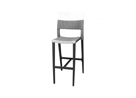 Chloe Bar Side Chair - Black and White - Black Frame