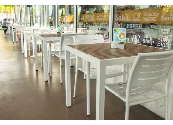 "Sedona 24"" Square Table - Lifestyle"