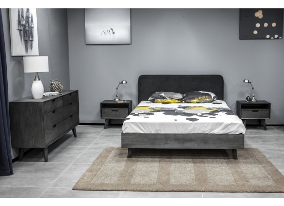 Mohave 3 Piece Acacia Queen Bed and Nightstands Bedroom Set - Lifestyle
