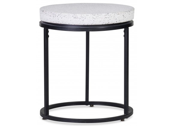 Moe's Home Collection Circulate Round Side Table Salt And Pepper - Front