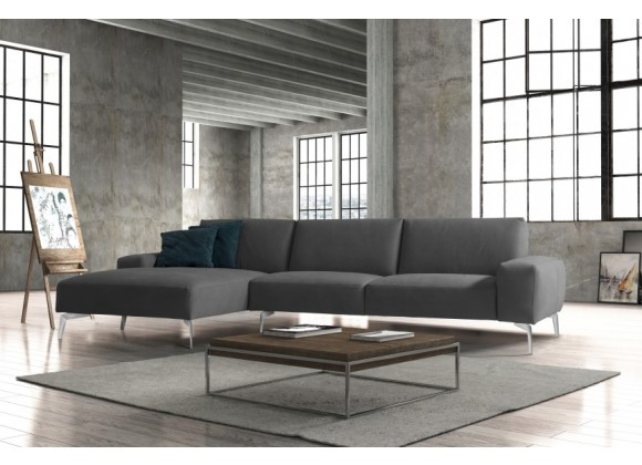 Negramaro Sectional With Chaise - Lifestyle - Dark Grey