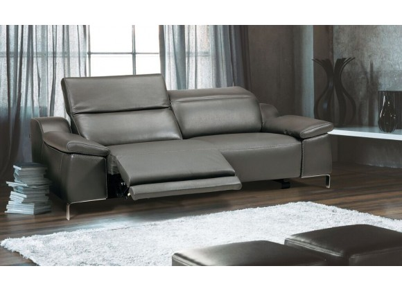 Sofia Electric Motion Loveseat With Manual Adjustable Neck Rest Cushions In Dark Grey