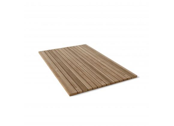 Rectangular Shower Mat Roll It & Go! - Placed