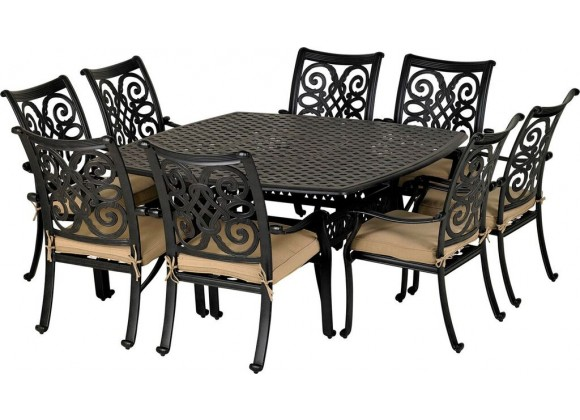 Venice 9-Piece Dining Set - With Armless Chairs