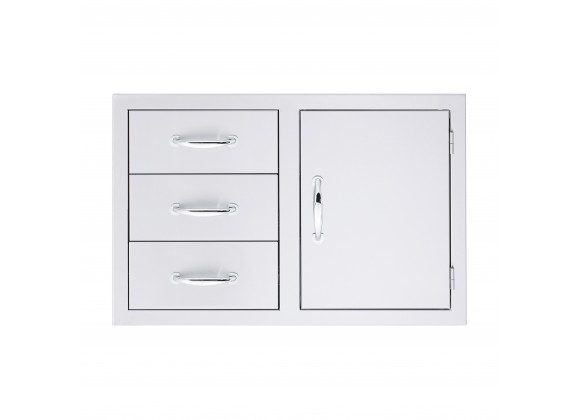 """Summerset Grills 33"""" 3-Drawer & Access Door Combo"""