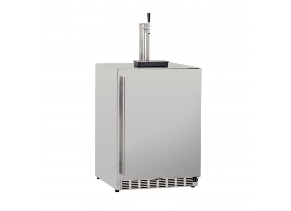 Summerset Grills 6.6c Deluxe Outdoor Rated Single Tap Kegerator - Angled