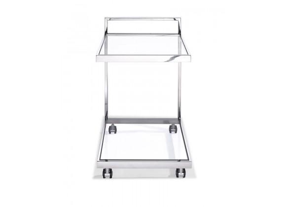 Sandra Side Table/Bar Cart - Front