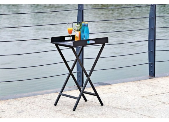 Kai Indoor/Outdoor Tray Side Table - Lifestyle