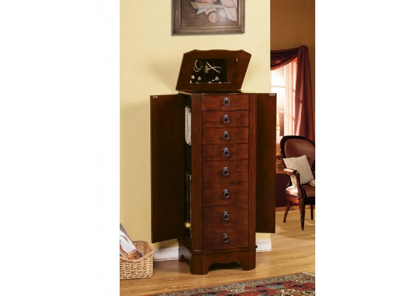 Berkeley Jewelry Armoire - Coffee