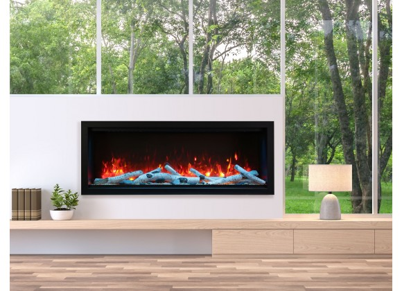 """60"""" Extra Tall Clean Face Electric Built-in With Black Steel Surround - Lifestyle"""