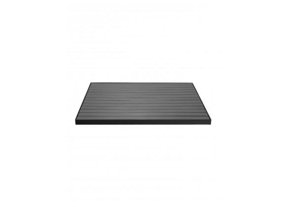 TA-PT Tops Faux Teak / Aluminum Edge - Square - Gray Faux Teak