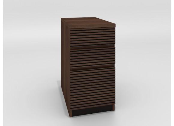Furnitech Tango Brazilian Cherry 3 Drawer File Cabinet in Cognac
