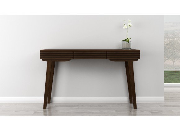 "Furnitech Tango 43"" Tango Mid-Century Modern Brazilian Cherry Wood Sofa Table"