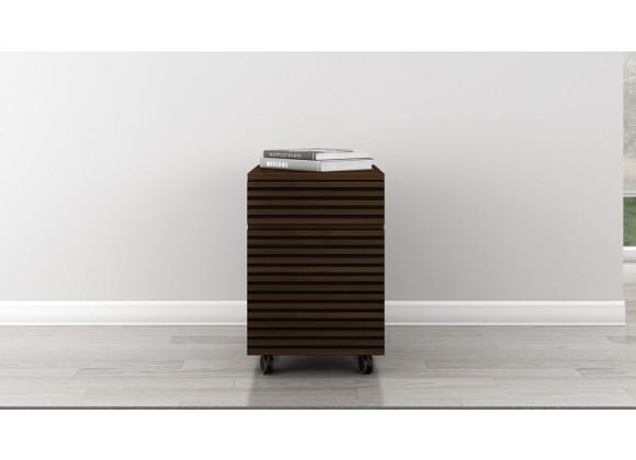 Furnitech Tango 2 Drawer Mid-Century Modern Rolling Pedestal