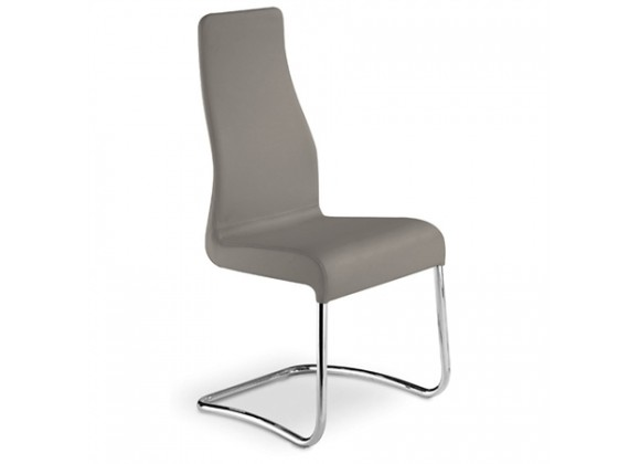 FLORENCE Collection Italian Taupe Leather Dining Chair by Talenti Casa