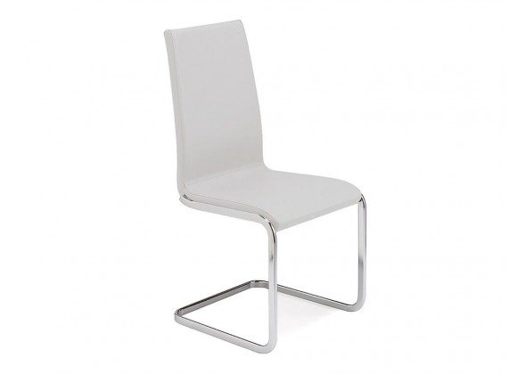AURORA Italian White Leather Dining Chair
