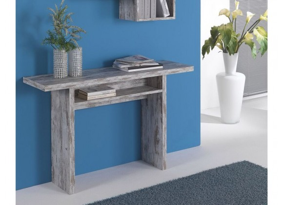 RITZ Extendable Vintage White Wash Console / Dining Table