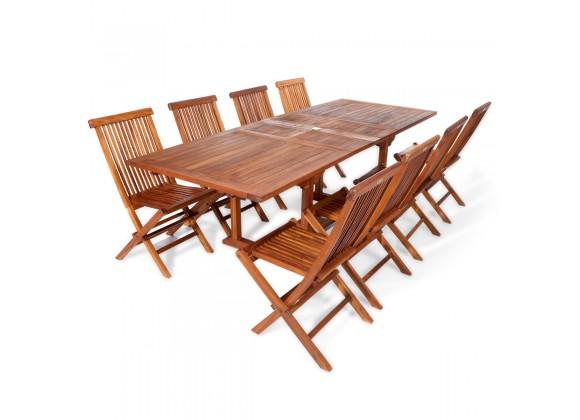 9-Piece Rectangle Folding Chair Set