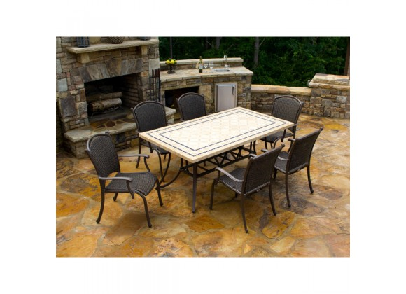 Tortuga Outdoor Marquesas 7pc set w/ arm chairs