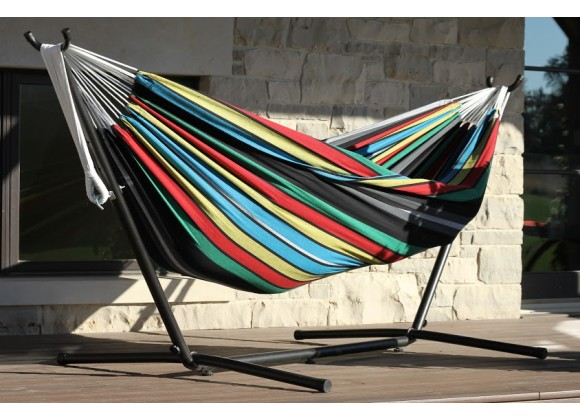 Combo - Double Rio Night Hammock with Stand (9ft) - Life