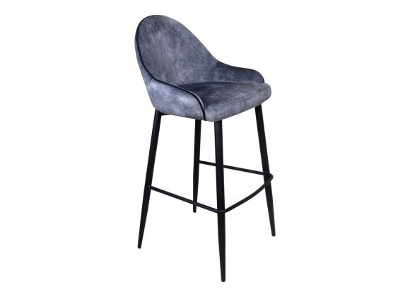 Moe's Home Collection Astbury Barstool - Grey - Perspective