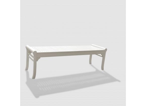 Bradley Eco-friendly 5-foot Backless Outdoor White Hardwood Garden Bench