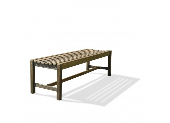 Renaissance Eco-friendly 5-foot Backless Outdoor Hand-scraped Hardwood Garden Bench
