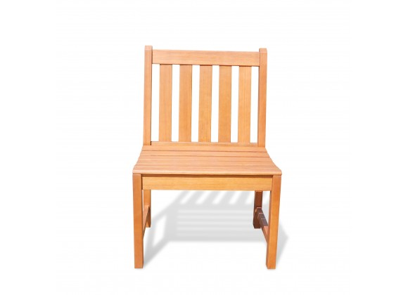 Malibu Eco-friendly Outdoor Hardwood Garden Armless Chair