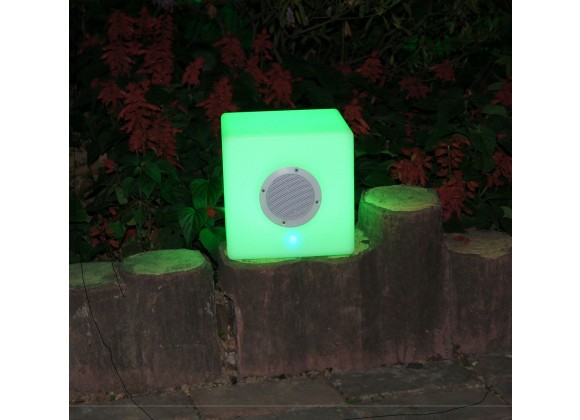 "Bellini Home and Gardens 16"" LED Cube with BT Speaker"