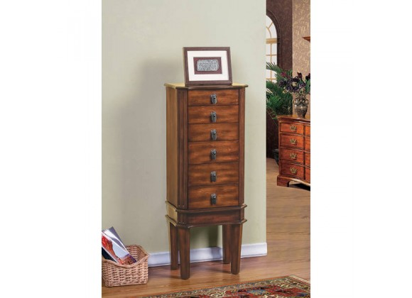 W-Unlimited Bedford Jewelry Armoire with Coffee Lining- Lifestyle