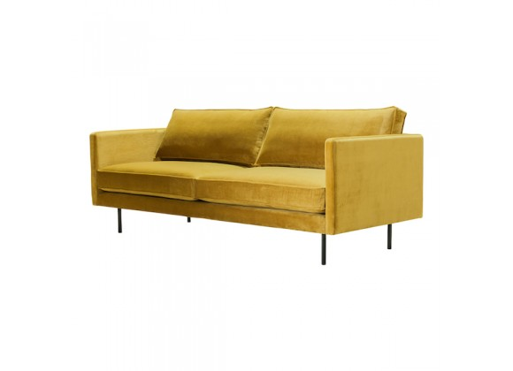 Moe's Home Collection Raphael Sofa - Perspective - Mustard