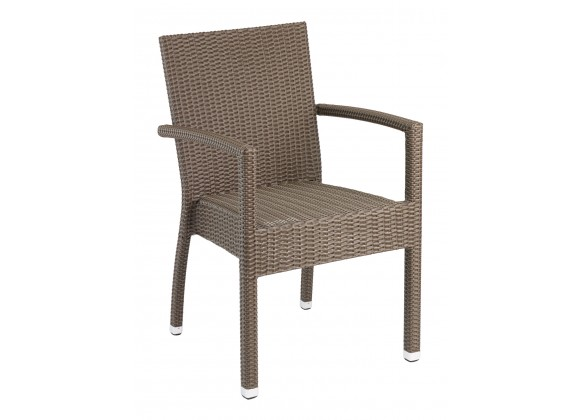 Hand Woven PE Synthetic Wicker Arm Chair - Indo
